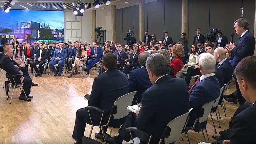 Президент НОСТРОЙ Андрей Молчанов на встрече с Президентом России поднял вопросы, которые волнуют застройщиков